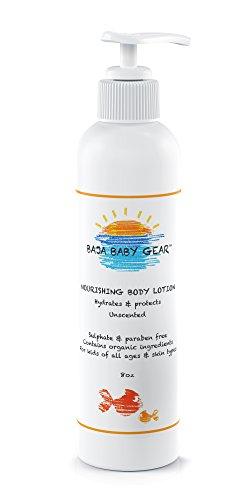 Lotion Baja bébé Nourrissant Corps - Sans Parfum - 8 Fl Oz libre de sulfates, parabènes et phosphates - bio, ingrédients naturels - Pour les enfants de tous âges et types de peau - mamans adorent Too - 100% garantie de remboursement !!