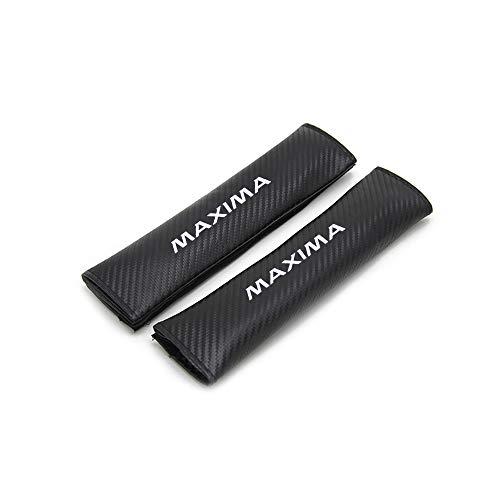 for Nissan Maxima Car Seat Belt Shoulder Strap Protect Pads Cover No Slip No Rubbing Soft Comfort 2Pcs White