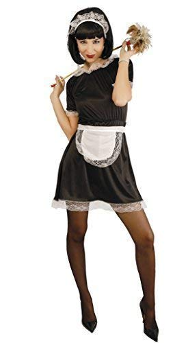 dcbb8fd067fd0 Ladies Sexy French Maid Housekeeper Rocky Horror Fancy Dress Costume UK  14-16-18