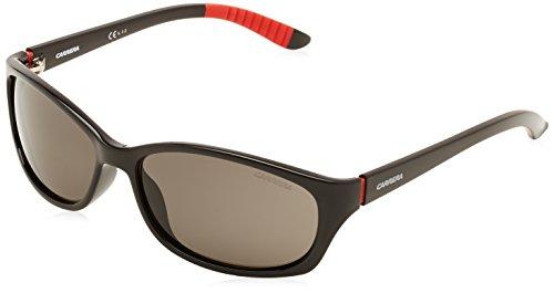 Carrera Men's CA8016S Polarized Rectangular Sunglasses, Shinny Black & Gray Polarized, 60 (0d28 Sunglasses)