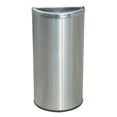 Commercial Zone Precision Series Half Moon Commercial Trash Can