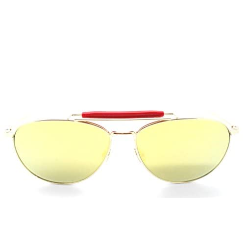771c56808cd8 Thom Browne TB-015 LTD Gold Oversized Aviator Sunglasses with Mirrored  Lenses free shipping