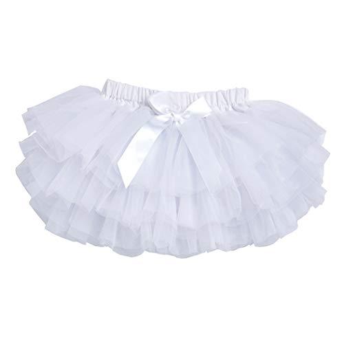 Short Tutu - belababy 24 Months Toddler Girl Tutu Skirt with PP Shorts, White