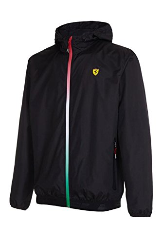 Scuderia Ferrari Men's Formula 1 2017 Black 100% Polyester Windbreaker F1 - Jacket Ferrari For Men