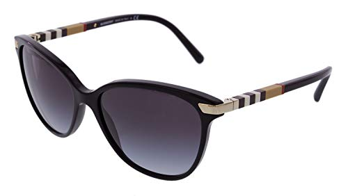 Burberry BE4216 - 30018G Sunglasses BLACK W/ GRAY GRADIENT Lens ()