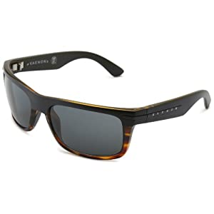 Kaenon Men's Burnet Polarized Rectangular Sunglasses, Special Sauce, 38 mm