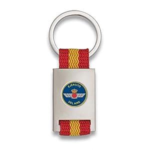 Tiendas LGP Albainox- Llavero Bandera de España y Emblema Ejército del Aire, Plateado 20