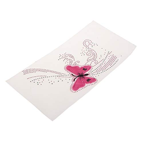 Baosity Butterfly Pattern Iron on Crystal Rhinestone Hotfix Transfer Patch DIY Decotative Applique for Clothing Bags