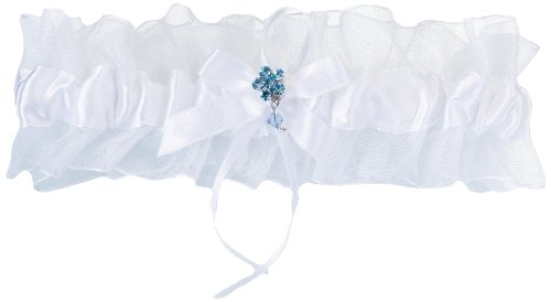 Lillian Rose White Something Blue Garter