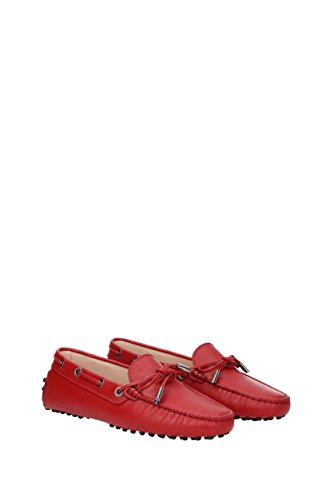 Women's Loafer Women's Red Loafer Flats Flats Tod's Red Tod's dftXqwX