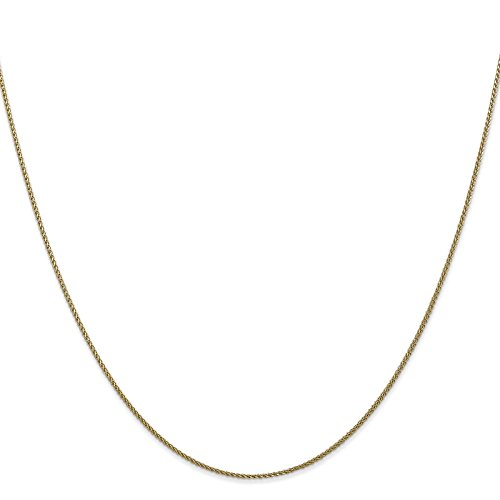 14k Yellow Gold 1.0mm Diamond-Cut Spiga Chain Necklace 18'' by Venture Jewelers