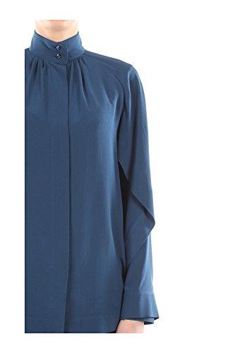 FS6210FA1F0WWU Fendi Camisas Mujer Seda Azul Blu