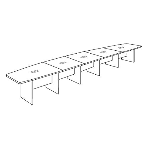 OfficeSource 22' Long Boat-Shaped Conference Table