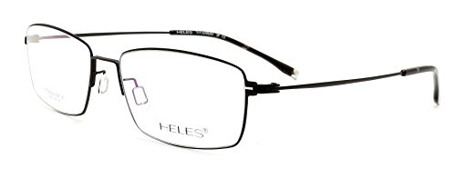 Heles Unisex Pure Tianium Full Rim Glasses Optical Frame, Prescription Eyeglasses Frames, very light in weight, - Frames Optical Mens