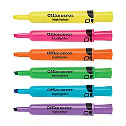 Office Depot(R) Brand Highlighters, Chisel-Point, Assorted Colors, Pack Of 24