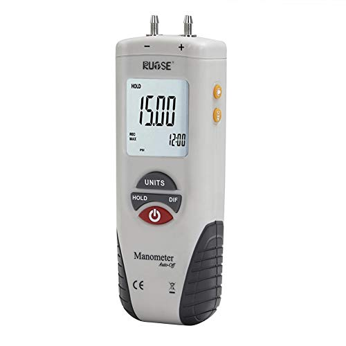 Rupse Hand-held HT-1890 Digital Differential Pressure Gauge Barometer Professional Digital Air Pressure Meter & HVAC Manometer