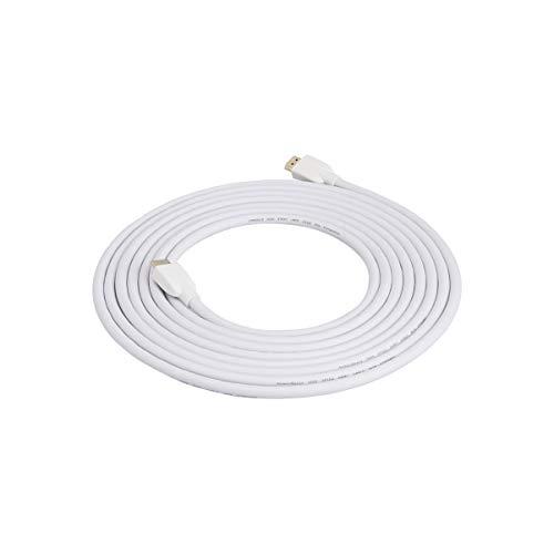 Amazon Basics High-Speed HDMI Cable (18Gbps, 4K/60Hz) – 15 Feet, White