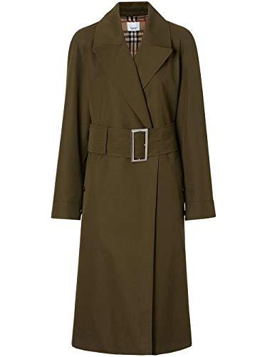 - BURBERRY Women's 8014162 Green Cotton Trench Coat
