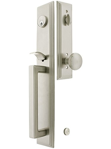 Single Dummy Us15 Satin (Melrose Style Tubular Handleset In Satin Nickel With Providence Knobs And 2 3/8