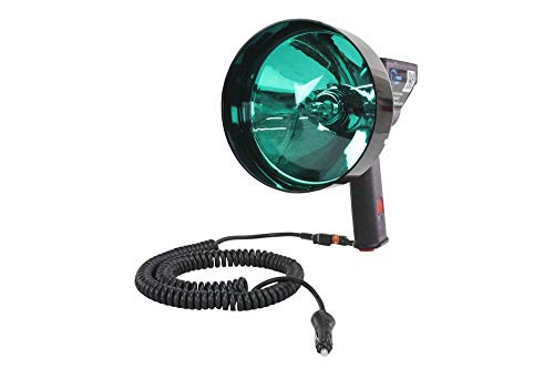 15 Million Candlepower Handheld Spotlight - Green Hunting Lens- Spot/Flood Combo - 5