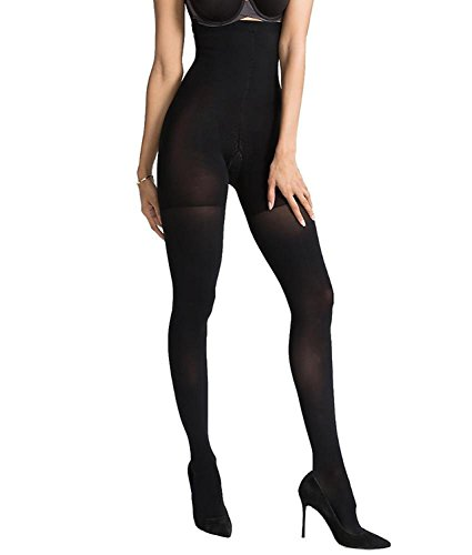 27517b62c653c Galleon - SPANX Women's Luxe Leg Blackout Tights, Very Black, D