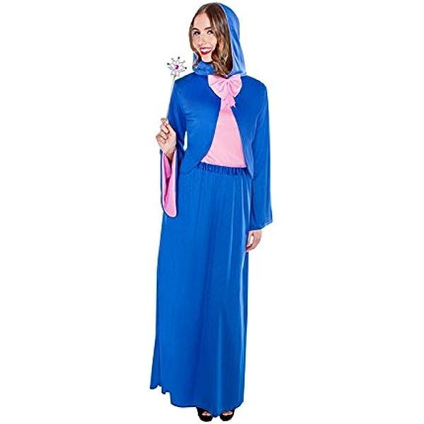 Disfraz de Hada Madrina azul para mujer: Amazon.es: Juguetes y juegos