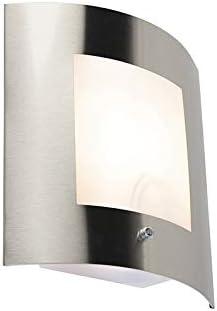 QAZQA Moderno Aplique acero IP44 crepuscular - EMMERALD 1 Plástico ...