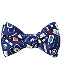b188ac307f54 Medical Supplies Navy Blue Microfiber Butterfly Bow Tie