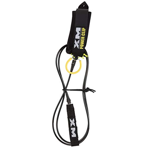 XM River SURF Surfboard Leash/Power-Clip/Knee/Calf/COMP (.220in) - Made in USA / 3 Year Stoked Warranty (Leash Xm)