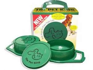 The Pet King Portable Travel Bowl - Standard by Aunt Beth's/Dog Wash