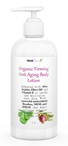 Anti Aging Body Lotion – Best Organic Skin Firming + Tightening Lotion with Jojoba, Aloe, DMAE, MSM – All in One for Face, Neck,& Body! Nourish Your Entire Body from Head to Toe! Natural ingredients.