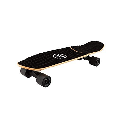 Magneto Barefoot Mini Cruiser Skateboard | EVA Stomp Pad Grip Tape | Short Board | Canadian Maple Deck - Designed for Kids, Teens and Adults (Barefoot)