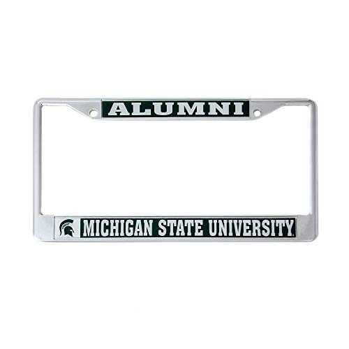 (Desert Cactus Michigan State University Alumni Metal License Plate Frame for Front Back of Car Officially Licensed MSU Spartans (Alumni))