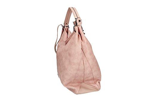 Tasche damen schulter PIERRE CARDIN pink offnung zip mit Schultergurt VN1556 e4Xrt