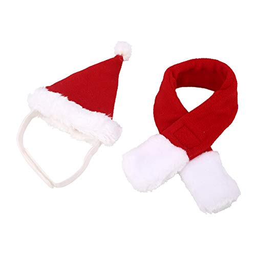 Aprettysunny Pet Dog Cat Hat Scarf Cute Christmas Party Xmas Make Up Costume Accessory Decor