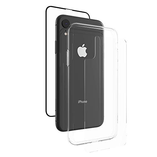 ZAGG InvisibleShield Glass+ 360 - Front + Back Screen Protection with Side Bumpers Made for Apple iPhone XR - Black, Clear by ZAGG (Image #4)