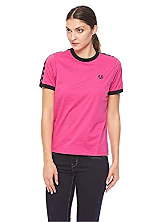Fred Perry T-Shirts For Women, Pink 10 UK (5034605157796-PNK)