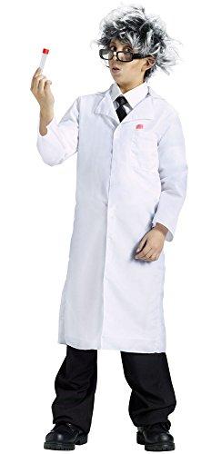 Fun World Child Costume White Lab Doctor Mad Scientist Coat (Small -