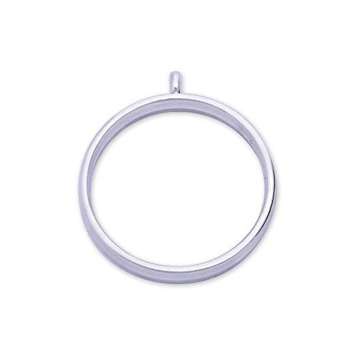 - 10pcs 28.5mm Round framework pendant,circle pendant blank,open back pendant,silver plated
