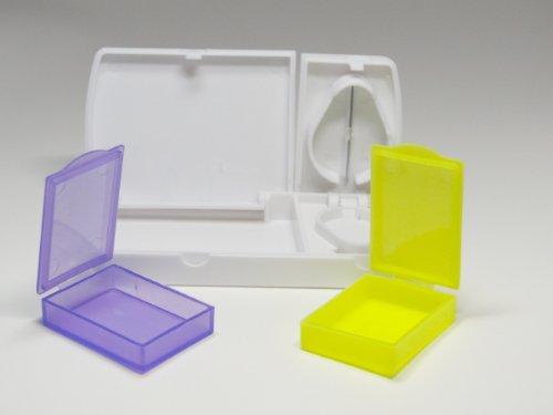Tablettenbox Pillendose mit 2 herausnehmbaren Fächern und separatem Tablettenteiler