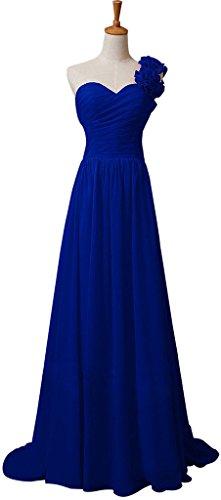 Snowskite Womens One Shoulder Chiffon Formal Bridesmaid Prom Dress Royal Blue 16 (Cinderalla Dress)