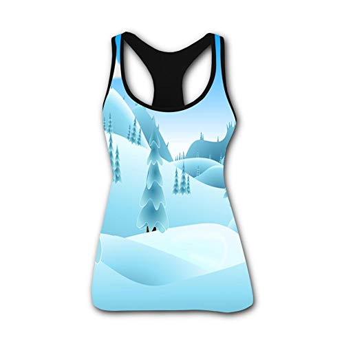 onecup Beautiful Views Stretch Casual Tank Tops for Activewear Workout and Yoga S ()