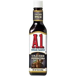 A1 Steak Sauce Cracked Peppercorn 10-oz (Pack of 3)