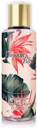 Secret Desire Luxury Fragrance Body Mist (coconut bliss)
