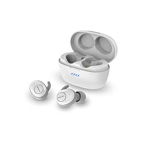 Philips Audio True Wireless SHB2505WT 10 Bluetooth In Ears Bluetooth cancelación de Ruido emparejamiento Inteligente hasta 20 Horas de Juego Blanco One Size