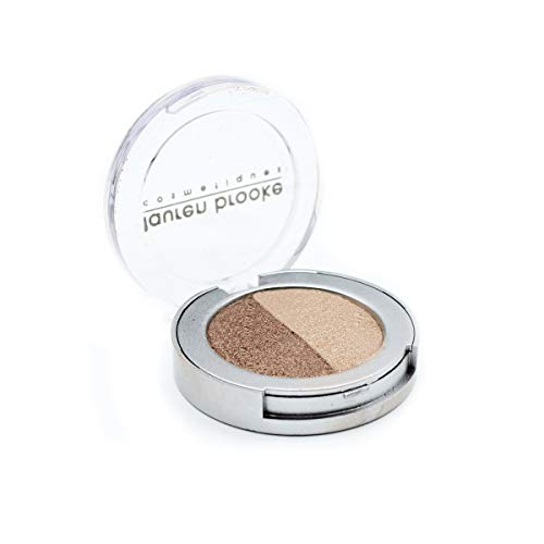 Lauren Brooke Cosmetiques Pressed Eyeshadow Duos, Natural, Organic Makeup (Cappuccino/Pearl)