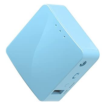 GL.iNet GL-MT300A Mini Travel Router, Wi-Fi Converter, OpenWrt Pre-installed, Repeater Bridge, 300Mbps High Performance, 128MB RAM, OpenVPN, Tor Compatible, Programmable IoT Gateway