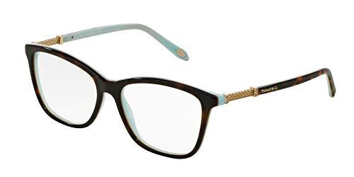 Tiffany & Co. TF2116B - 8134 Eyeglass Frame HAVANA/BLUE w/ Clear Demo 53mm
