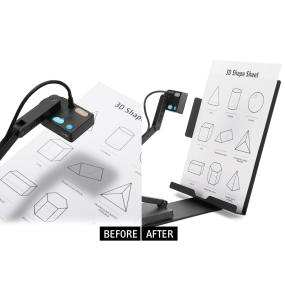 Upright support for faster, more convenient capture