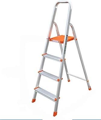 Multifuncional Una escalera lateral del hogar, de aleación de aluminio de cuatro Escalera plegable Teatro/tienda de escalera de tijera naranja Pedal Tamaño: 47 * 11.5 * 144 Cm estable: Amazon.es: Bricolaje y herramientas